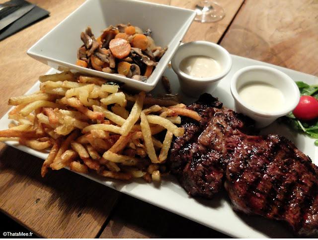 resto viande L'Aller Retour Paris steak charolais black angus