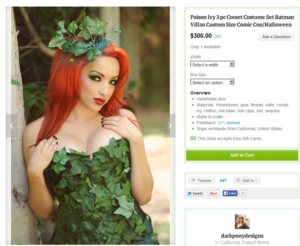 Botanical accuracy batman and poison ivys leaves if you are going to buy a poison ivy halloween costume for 300 do you want it with english ivy leaves here is one of them biocorpaavc Gallery