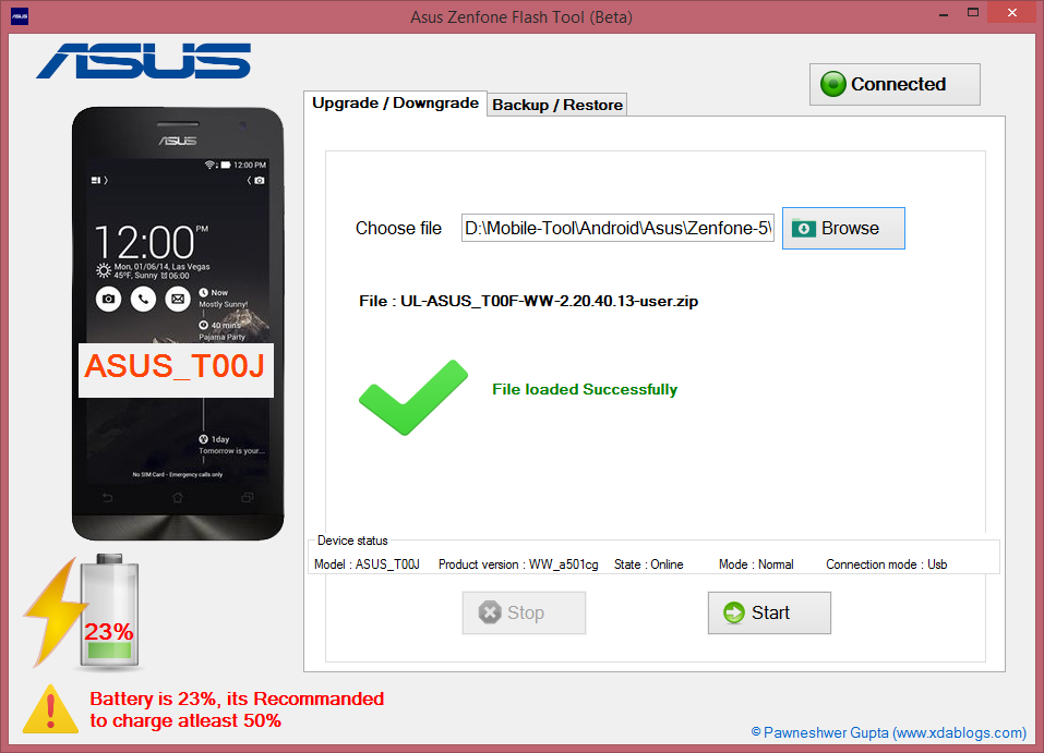 ASUS Zenfone Flash Tool V12
