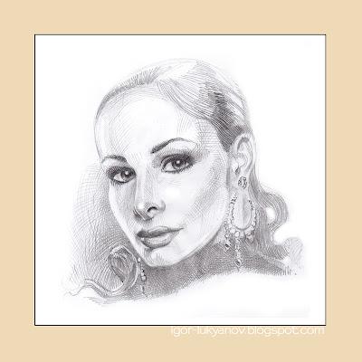 Comment dessiner un portrait réaliste d'une femme (Étape 2)