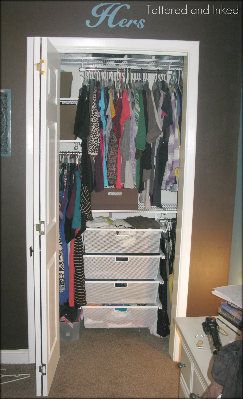 Tattered And Inked Closet Transformation With A Little Help From Elfa