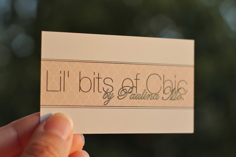 My Fashion Blogger Business Cards | Lil bits of Chic by Paulina Mo ...