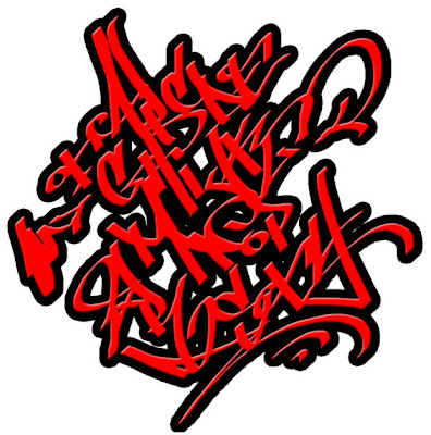 Graffiti Letters, Red Graffiti Letters Sticker