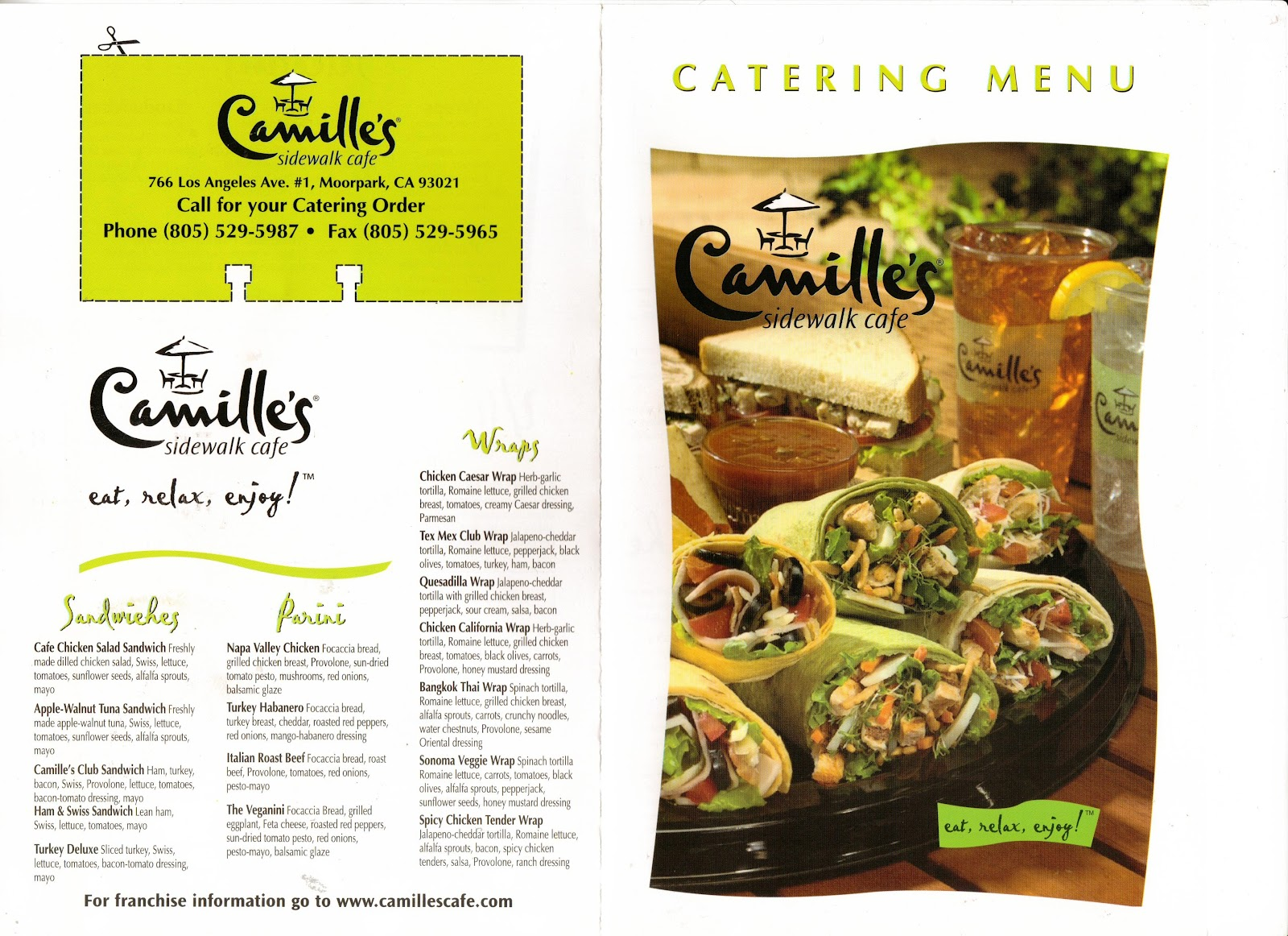 Camille S Sidewalk Cafe Breakfast Menu