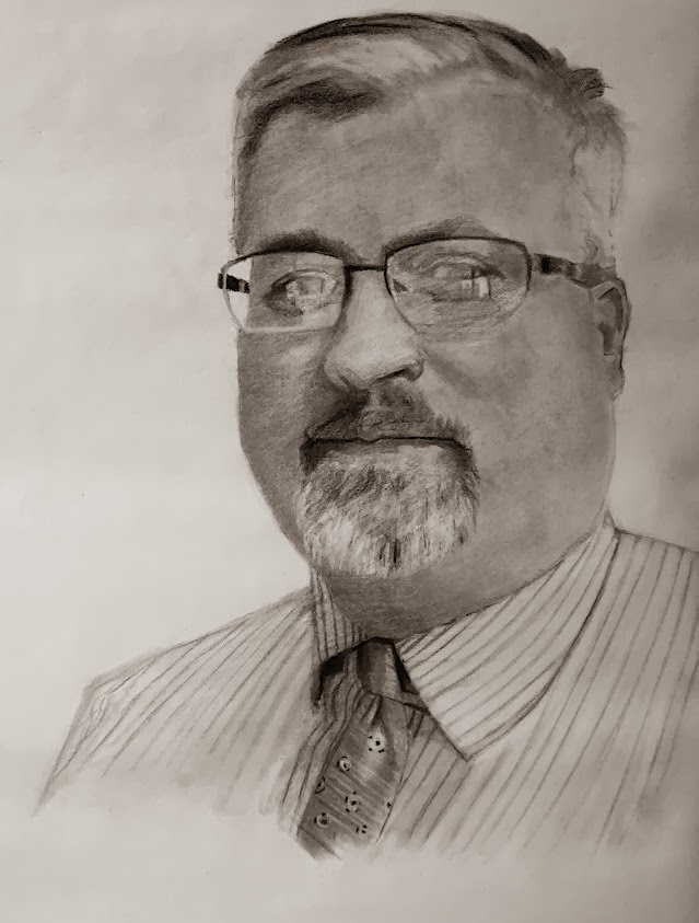 Portrait by LA artist, Scott Kiche