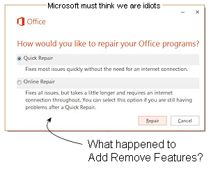 fix remove office 2013