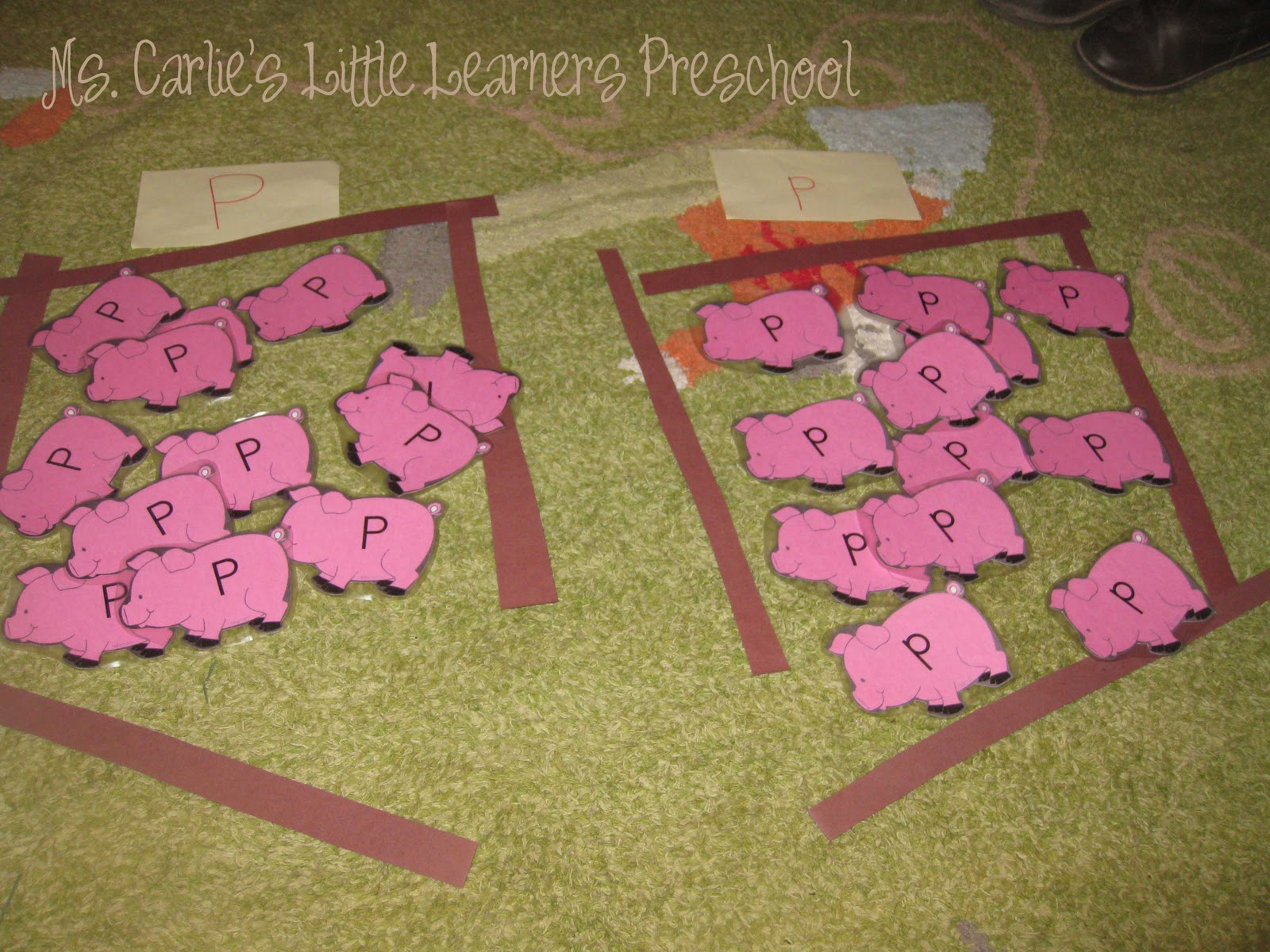 Ms carlie 39 s little learners preschool letter p games for Letter p preschool crafts