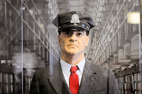 """Typical Prison Guard"" - Taken at old Alcatraz Prison exhibit. (Photo by Son of Groucho)"