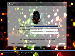 Windows 7 Alienware