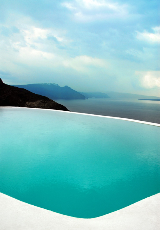 The jaw dropping caldera view from the terrace of Mystique hotel