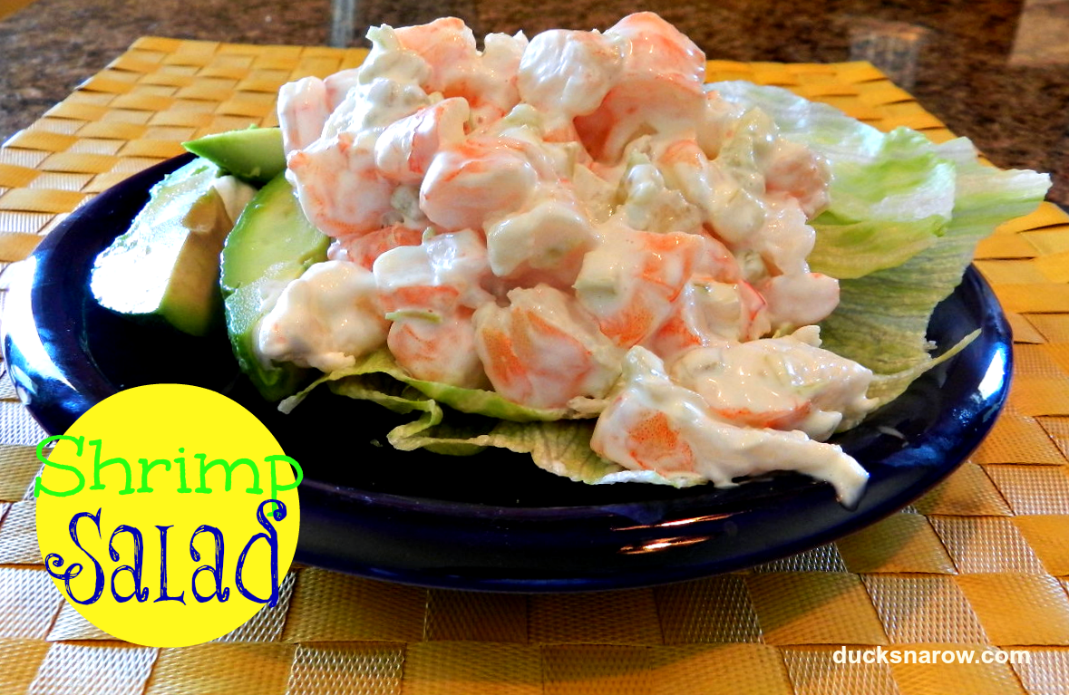 Easy shrimp salad recipe! #lowcarbdiet #lowcarb #recipes #salads #shrimp Ducks 'n a Row