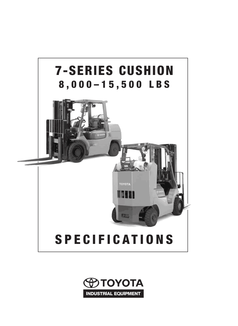Pdf Manual June 2013 Toyota Forklift Wiring Diagram 7fgc8000 15 500 Cushion