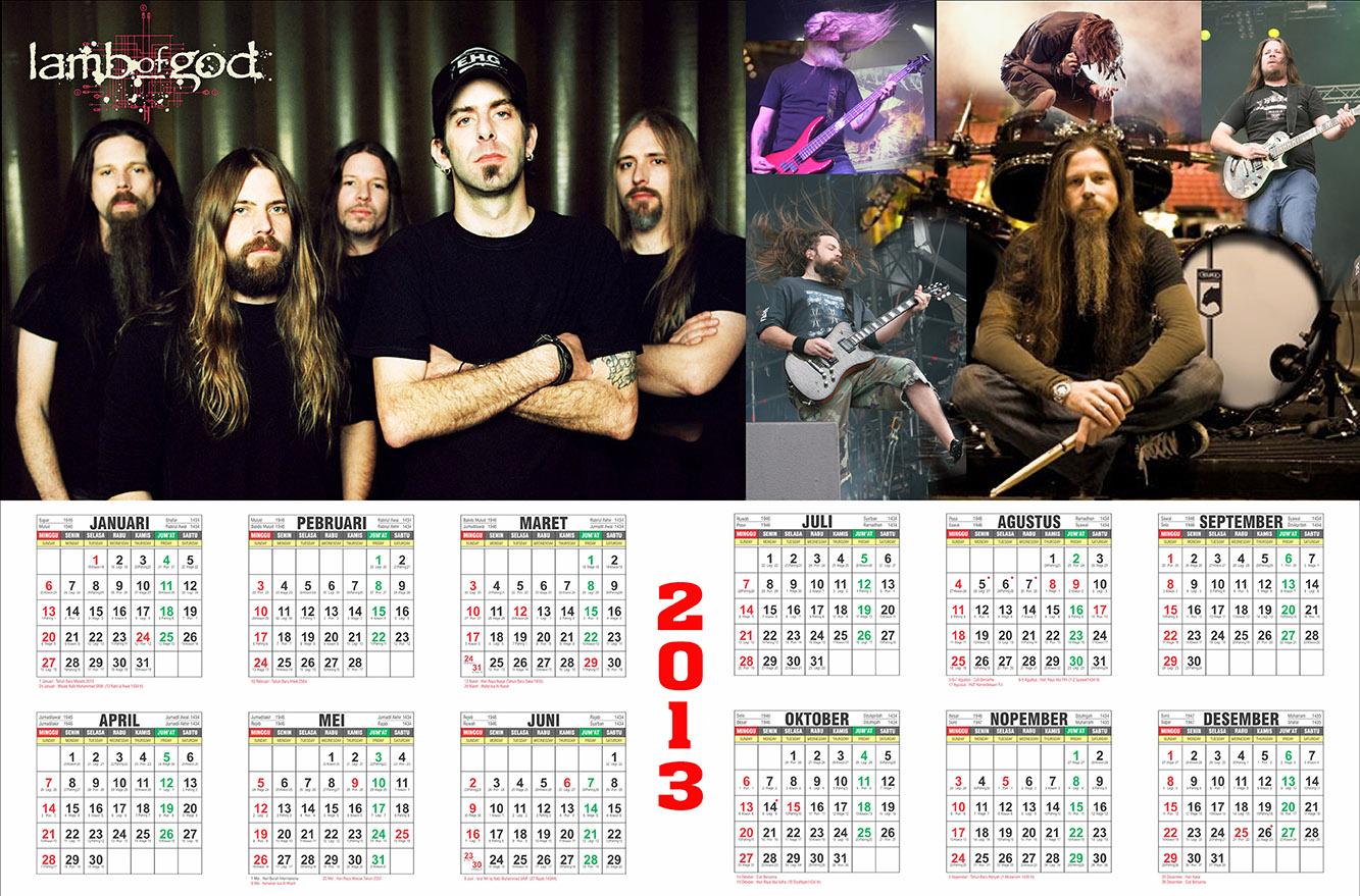 Free design template kalender 2013 full