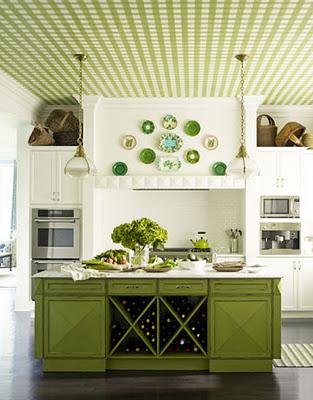 Decoración de Cocinas en Color Verde
