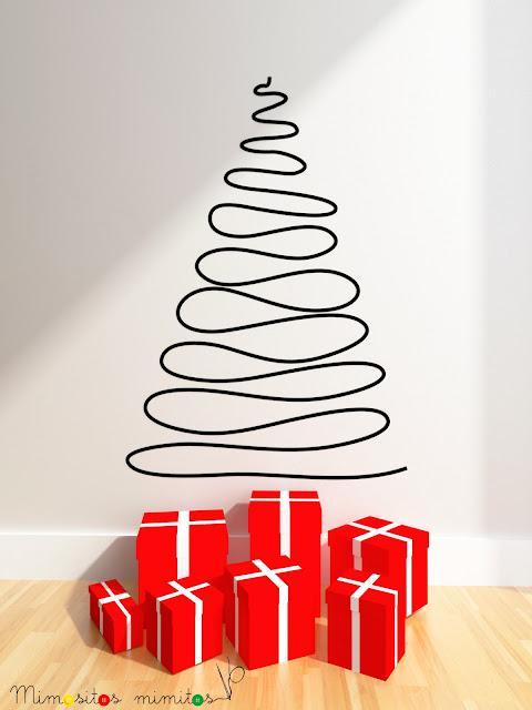 vinilo árbol navidad xmas christmas nadal vinyl decoración diseño interiorismo
