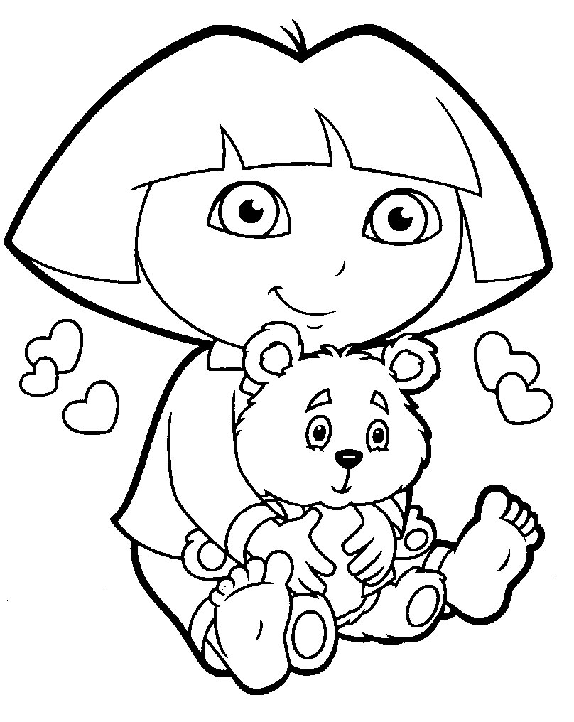 Free Dora Coloring Page For Kids Online