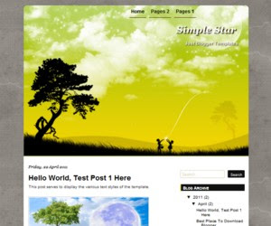 Simple Star Blogger Template