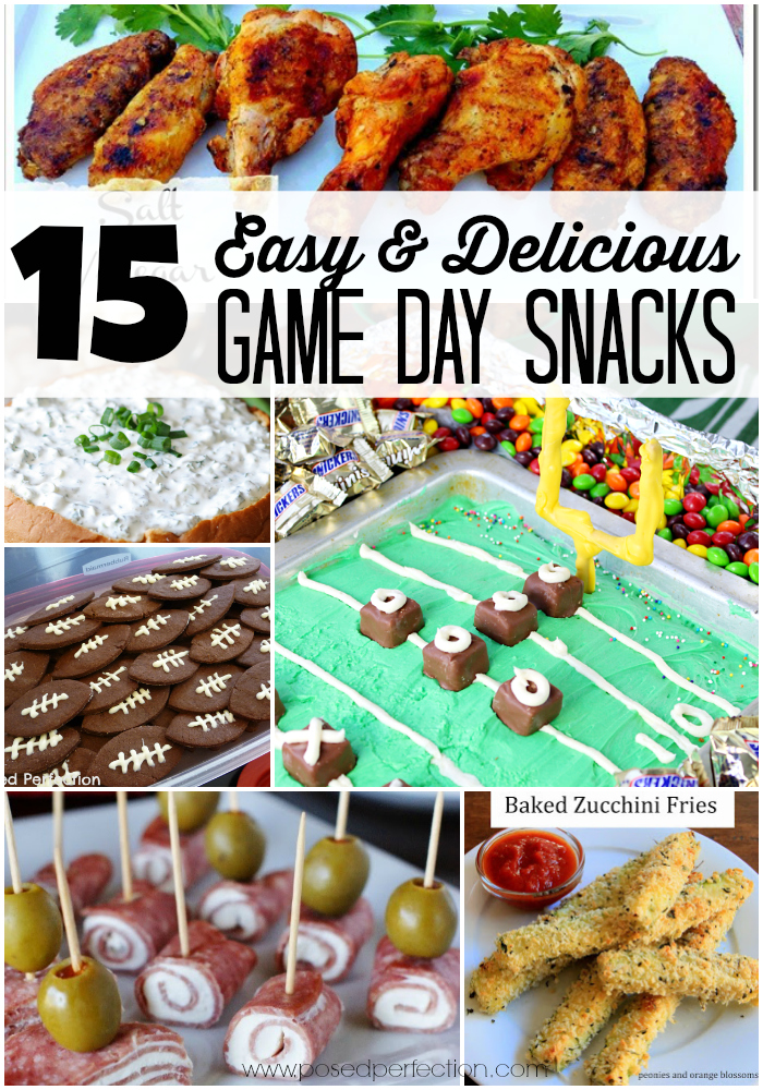 15 Easy & Delicious Game Day Snacks
