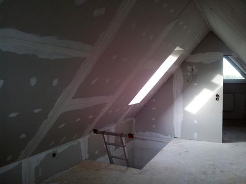 ein haus f r uns einrichtungs garten und baublog die maler haben angefangen. Black Bedroom Furniture Sets. Home Design Ideas