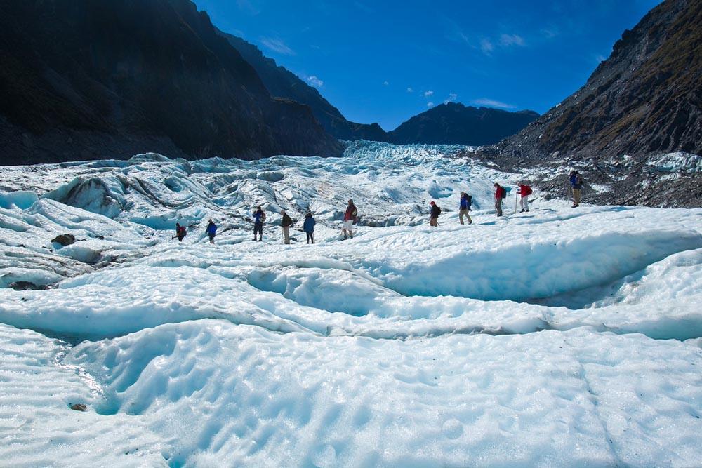 Fox Glacier New Zealand  city images : É uma atração turística importante, recebendo cerca de 1000 ...