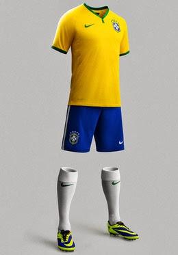 uniforme da seleção brasileira 2014 kit camisa short meião