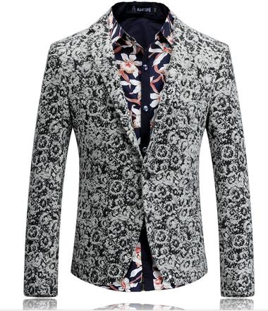modern stylish grey blazer for men - wool blend