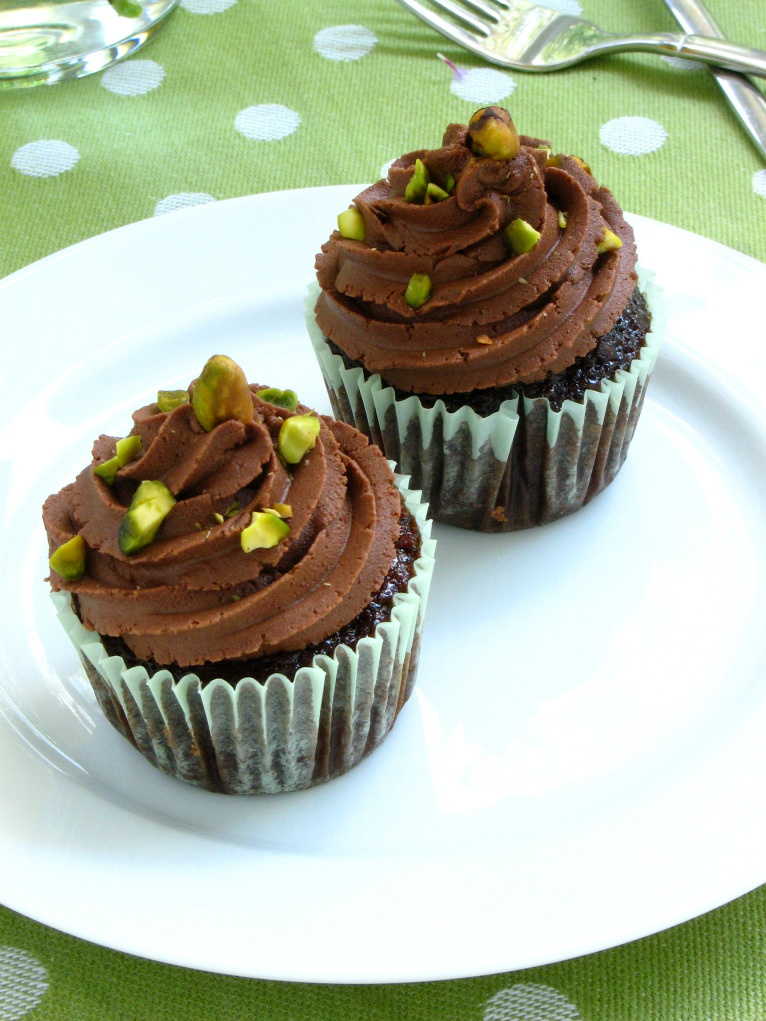 Chocolate Pistachio Cupcakes From Willow Bird Baking