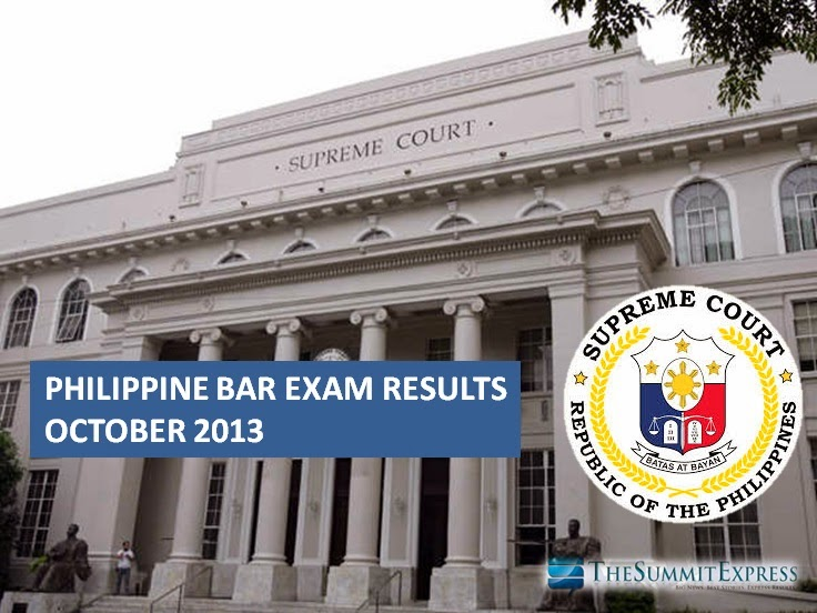 Bar Exam results 2013 passers