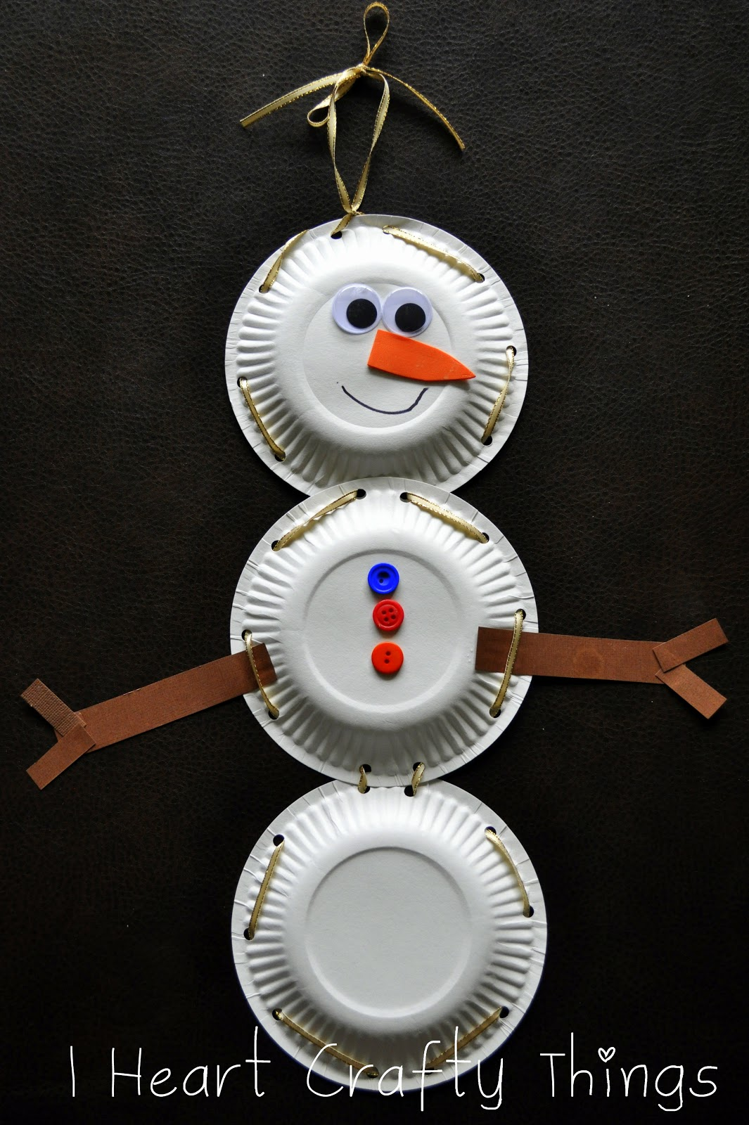 Paper Plate Snowman With Lacing Practice I Heart Crafty Things