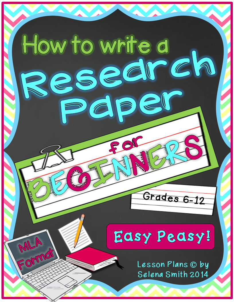 write a research paper middle school