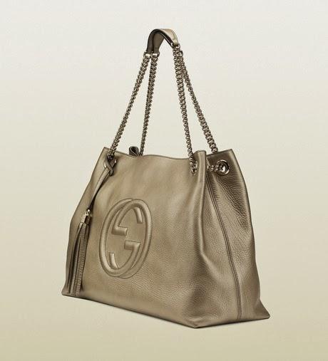Metallic Leather Shoulder Bag 5