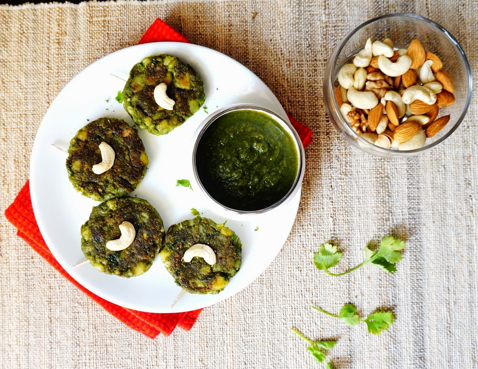 hara bhara kabab,tikki,spinach cutlets,kababs,palak tikki,,vegan,snacks