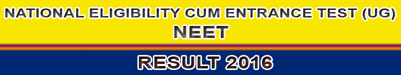 NEET Result 2016 - Phase 2