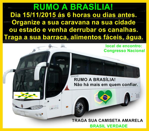 Forme sua Caravana, Rumo a Brasilia, vamos incomodar os RATOS petista, a maior quadrilha do planeta