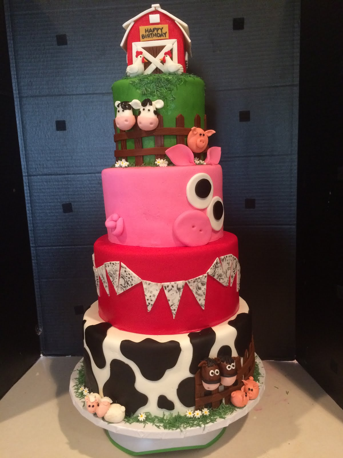 Frosted Insanity Farm Animal Cake