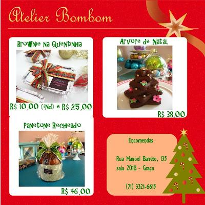 Sugestões de Natal: Atelier Bombom