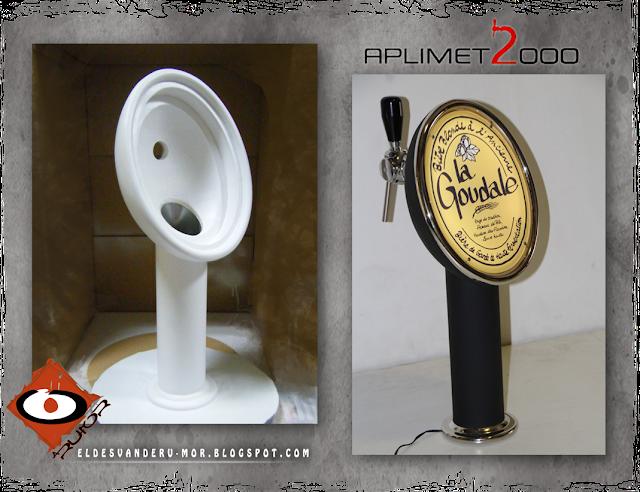 escultura para surtidor de cerveza RU-MOR Aplimet2000