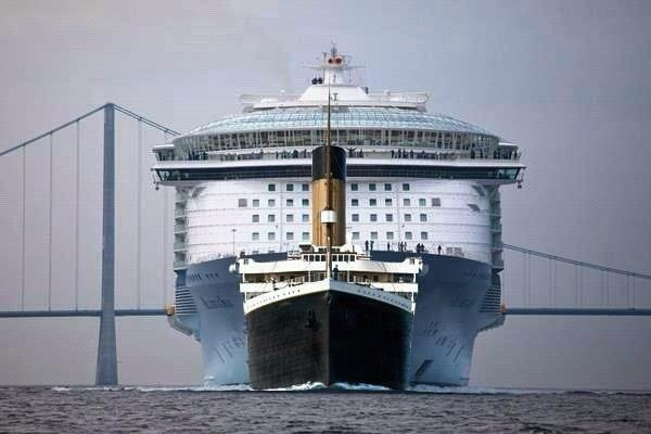Titanic vs Modern Day Cruise Ship