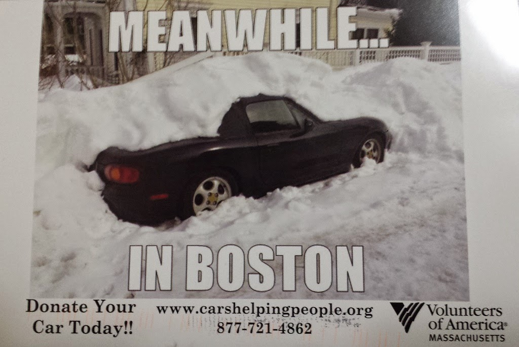 Meanwhile In Boston - car stuck under snow