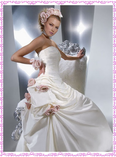 Roses Wedding Dress Designs Picture - Wedding Dress