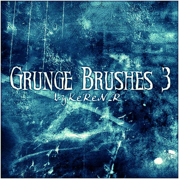 Grunge Brushes 3 by KeReN R 30 Must Have Grunge Photoshop Brushes Collection Set
