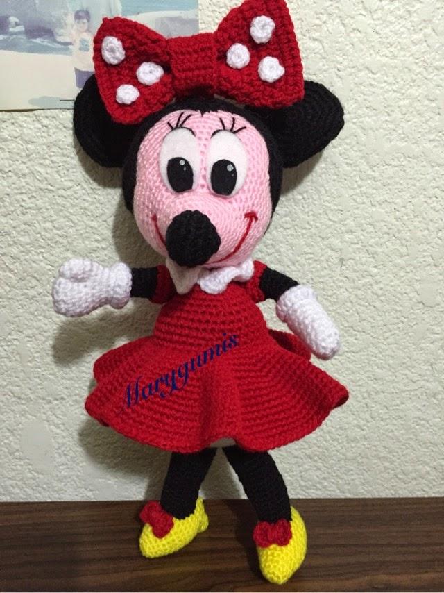 Magnífico Ganchillo Libre De La Muñeca Del Patrón De Minnie Mouse ...