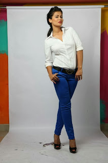 Sharmila Mandre in Tight Blue Jeans and White Shirt Stunning Pictureshoot