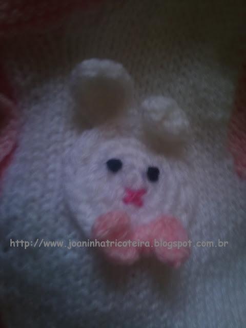 Crochê, aplicação de colehinho colete de tricot