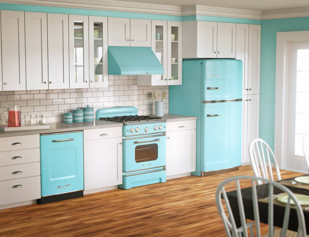 Cuisines color es de style vintage d cor de maison for Decour de cuisine