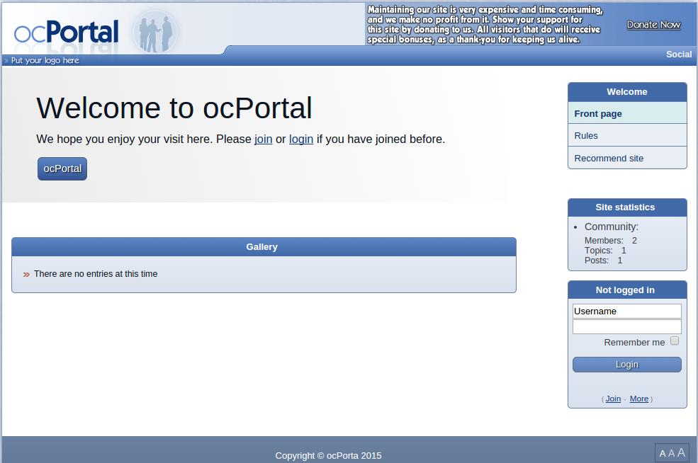 tampilan situs jadi dari cms ocportal