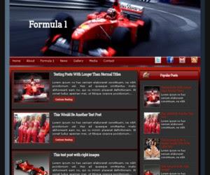 Formula 1 blogger template