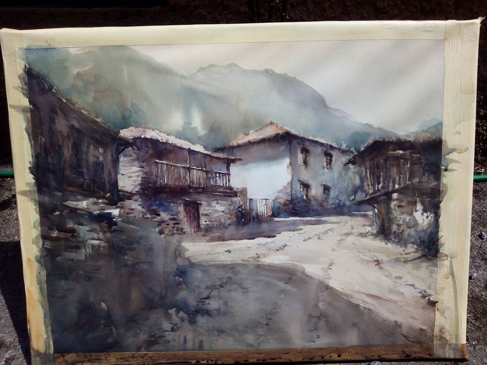 Concurso de Acuarela Arriondas. Asturias.