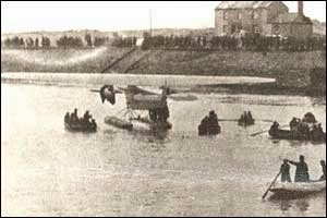 Amelia Earhart landing in Burry Port, South West Wales