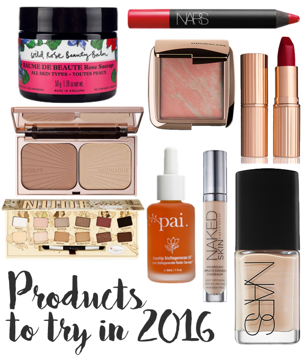 Products and brands I want to try in 2016